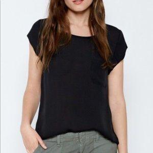Joie Silk Rancher shirt/top black sz XS